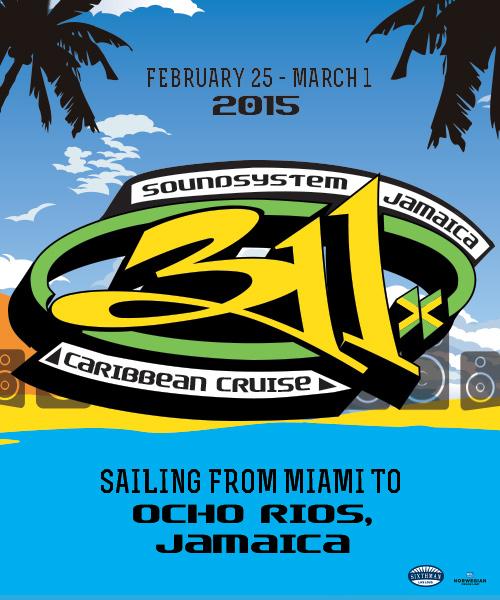311 Caribbean Cruise 2015
