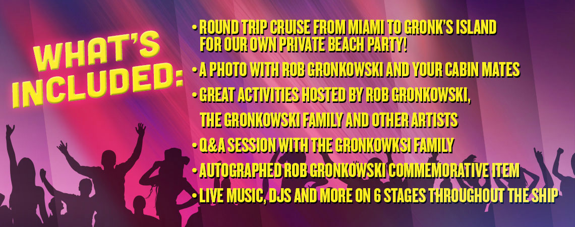 What's included on Gronk's Party Ship