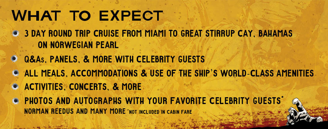 What's included on Walker Stalker Cruise