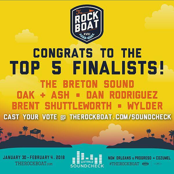 Soundcheck: Top 5 Finalists Announced!